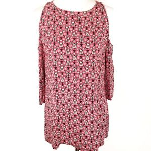 Staring at Stars Red Floral Cold Shoulder Tunic